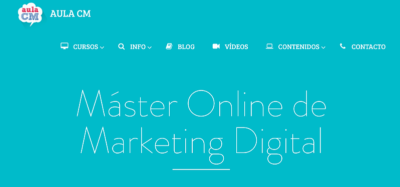 Máster Online de Marketing Digital de Aula CM