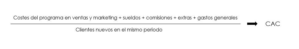 fórmula calcular el CAC